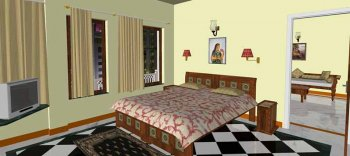 Om Niwas Artistci Impression - Luxury suite bedroom