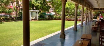 Arya Niwas Front Verandah and Garden, welcome to a green, peaceful, relaxed sojourn